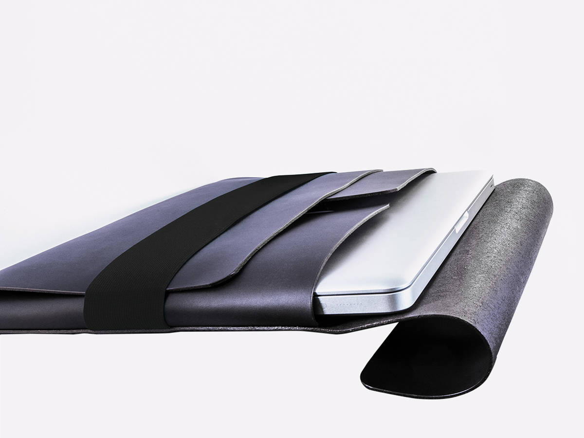 slide-Tasche Liegend Schwarz Schwarz