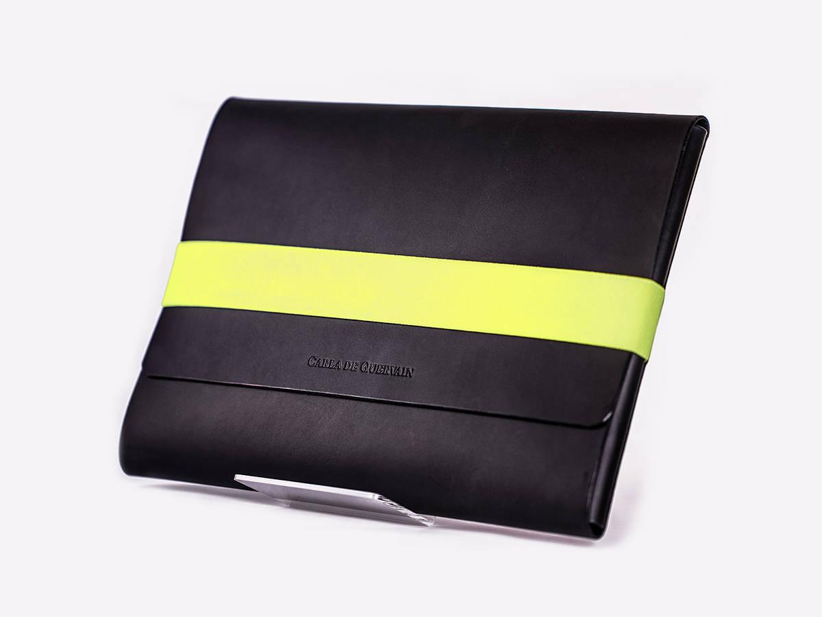 slide-Tasche Stehend Schwarz Gelb