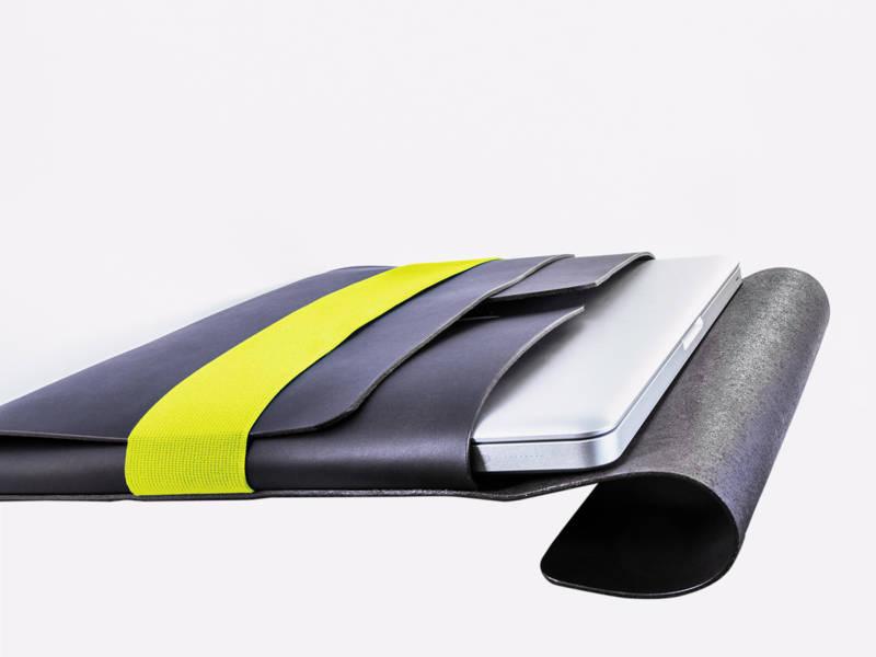 slide-Tasche Liegend Schwarz Gelb